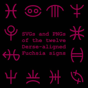 Extended Zodiac Vectors - Dersite Fuchsia signs