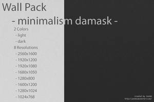 Wall Pack -minimalism damask- by Jundai
