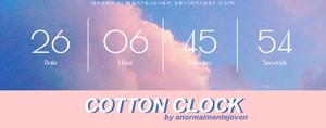 cotton clock [skin xwidget]