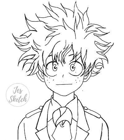 Deku Coloring Pages | Coloring Page Blog
