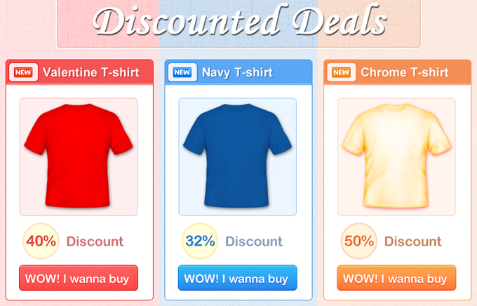 Discount Product Box PSD by smartrocker