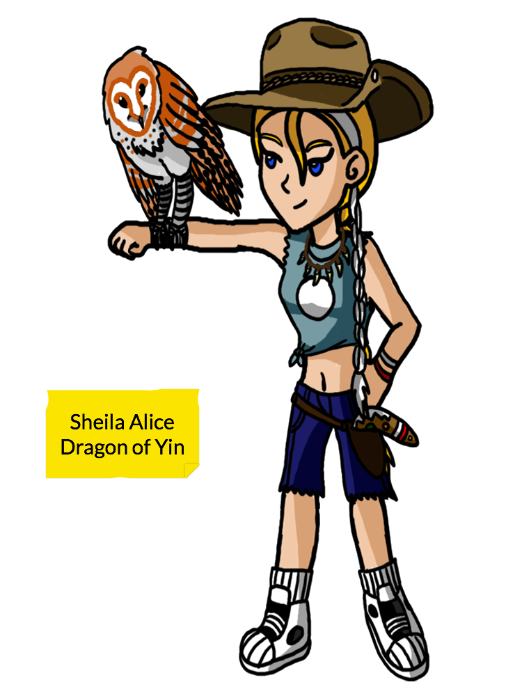 Sheila Alice: Dragon of Yin by Bluebarnowl