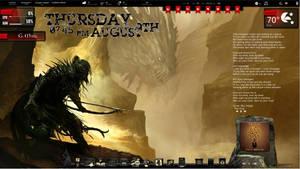 Dragon Hunt Rainmeter Desktop by ionstorm01