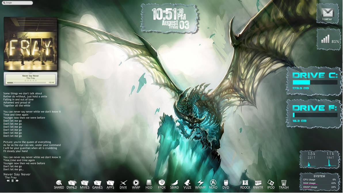 Conjuring The Bone Dragon Rainmeter Desktop