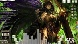 Avenging Angel Desktop for Rainmeter by ionstorm01