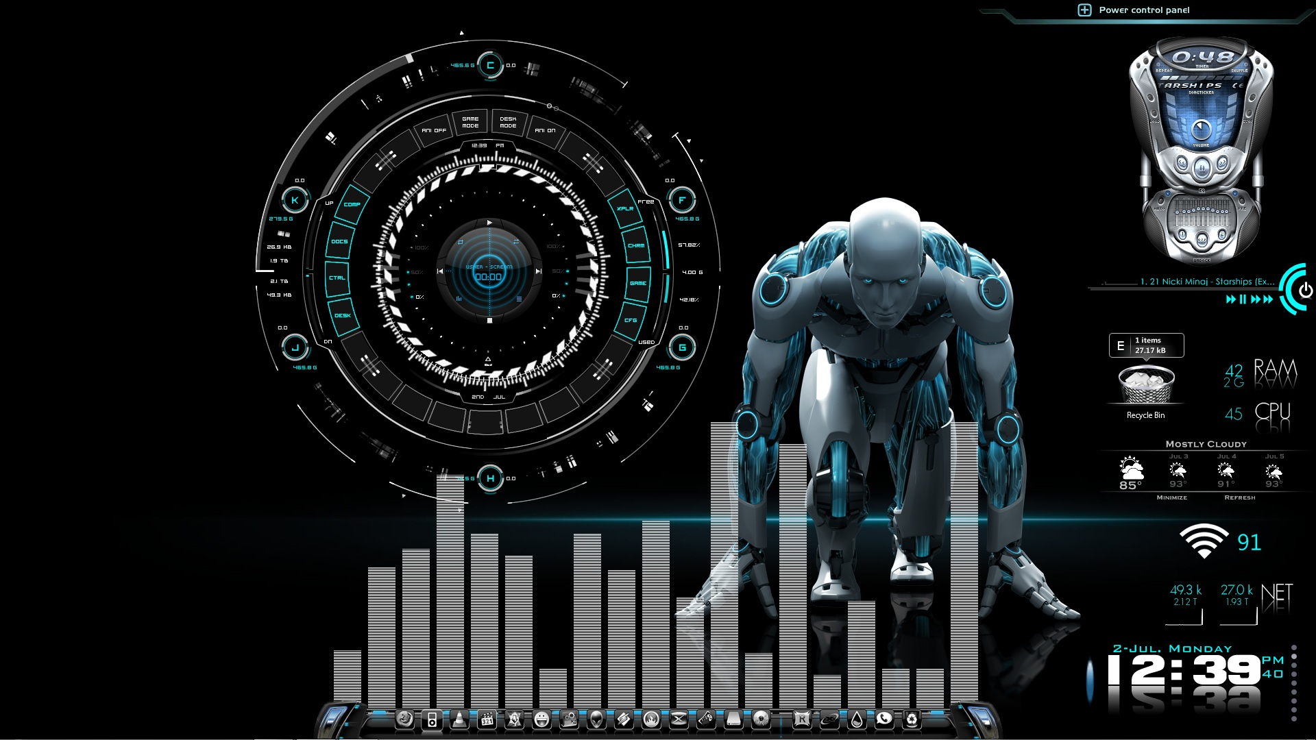 Robo-Tech Desktop for Rainmeter by ionstorm01 on DeviantArt