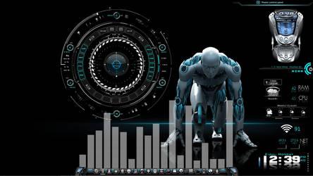 Robo-Tech Desktop for Rainmeter by ionstorm01