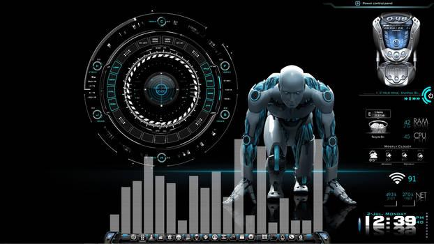 Robo-Tech Desktop for Rainmeter