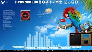 Tropical Breeze Desktop for Rainmeter by ionstorm01