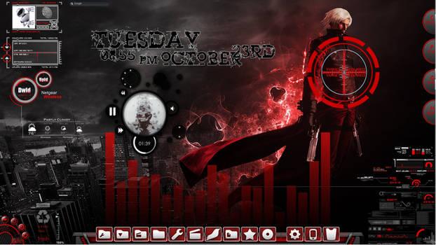 Devil May Cry Animated Rainmeter Desktop