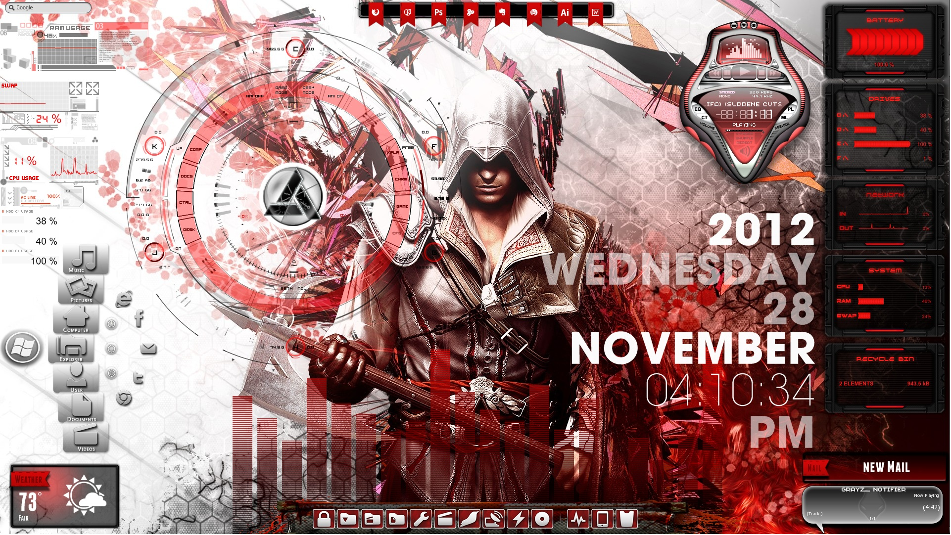 Assassin S Creed Desktop For Rainmeter By Ionstorm01 On Deviantart