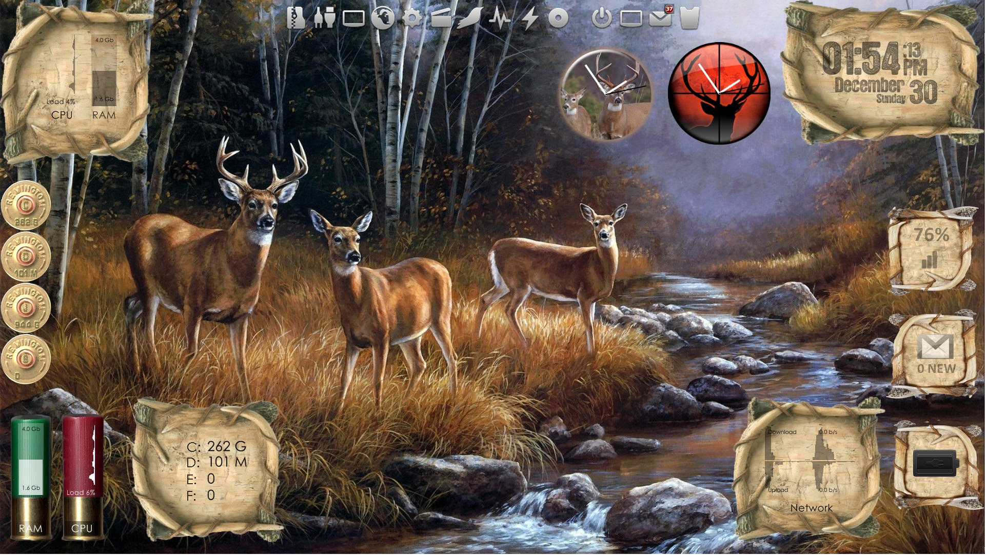 Outdoor Living - Deer - Desktop for Rainmeter v1.1 by ionstorm01