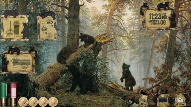 Outdoor Living - Bear - Desktop for Rainmeter