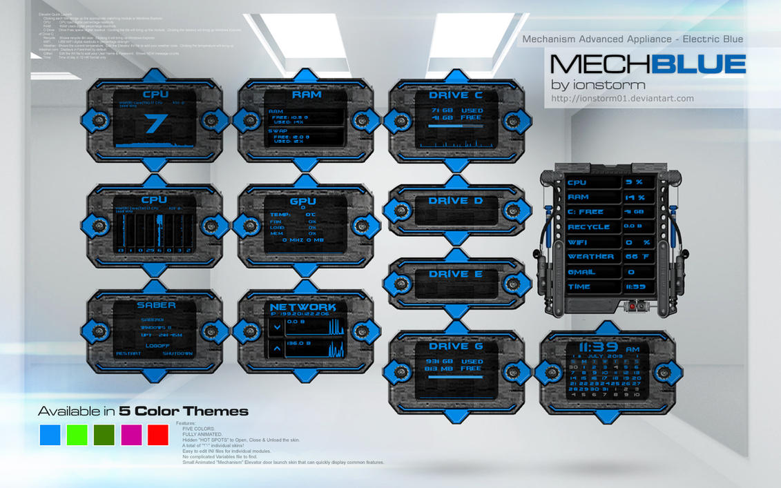 Mechanism Advanced Appliance - Electric Blue v1.1 by ionstorm01