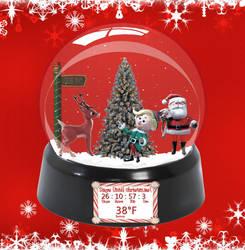 Christmas Snow Globe  Small  by Ionstorm v1.1