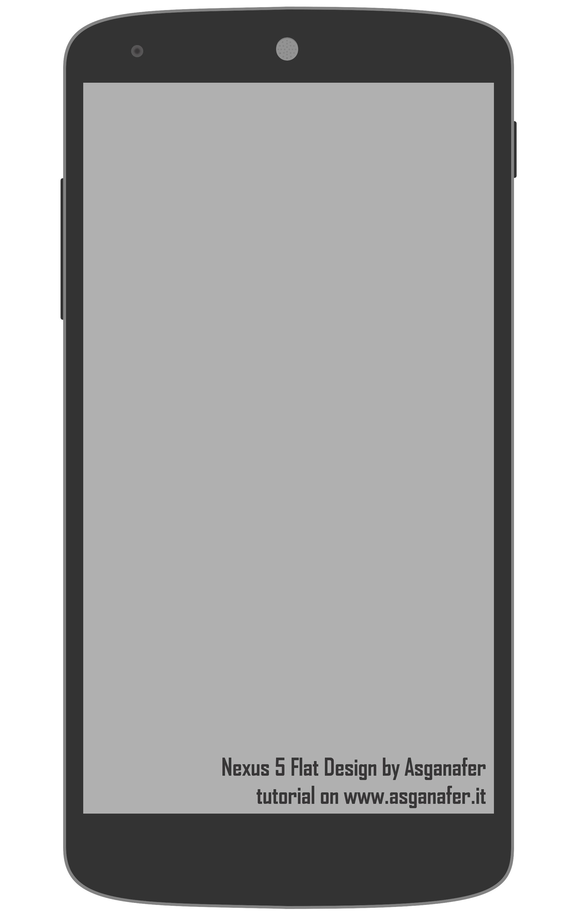 Nexus 5 Flat by asganafer