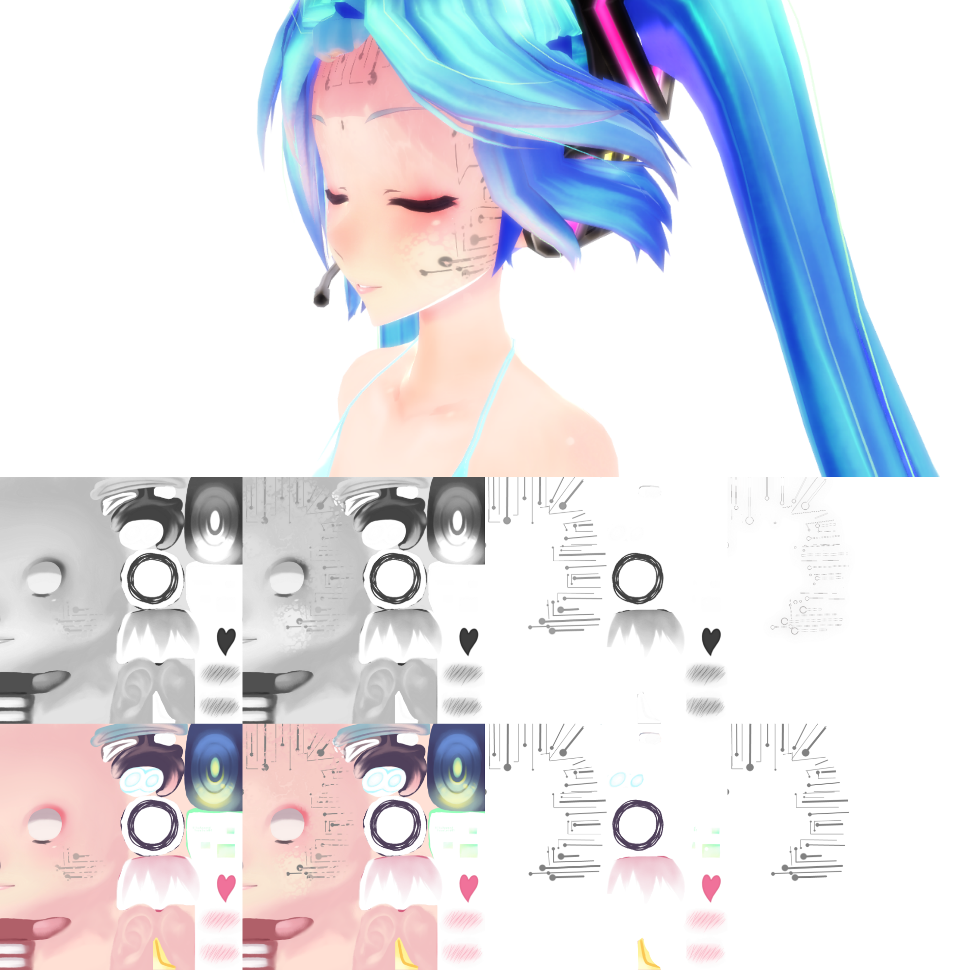 8+ TDA Cyber Skin Face Texture by UtauRueCross on DeviantArt