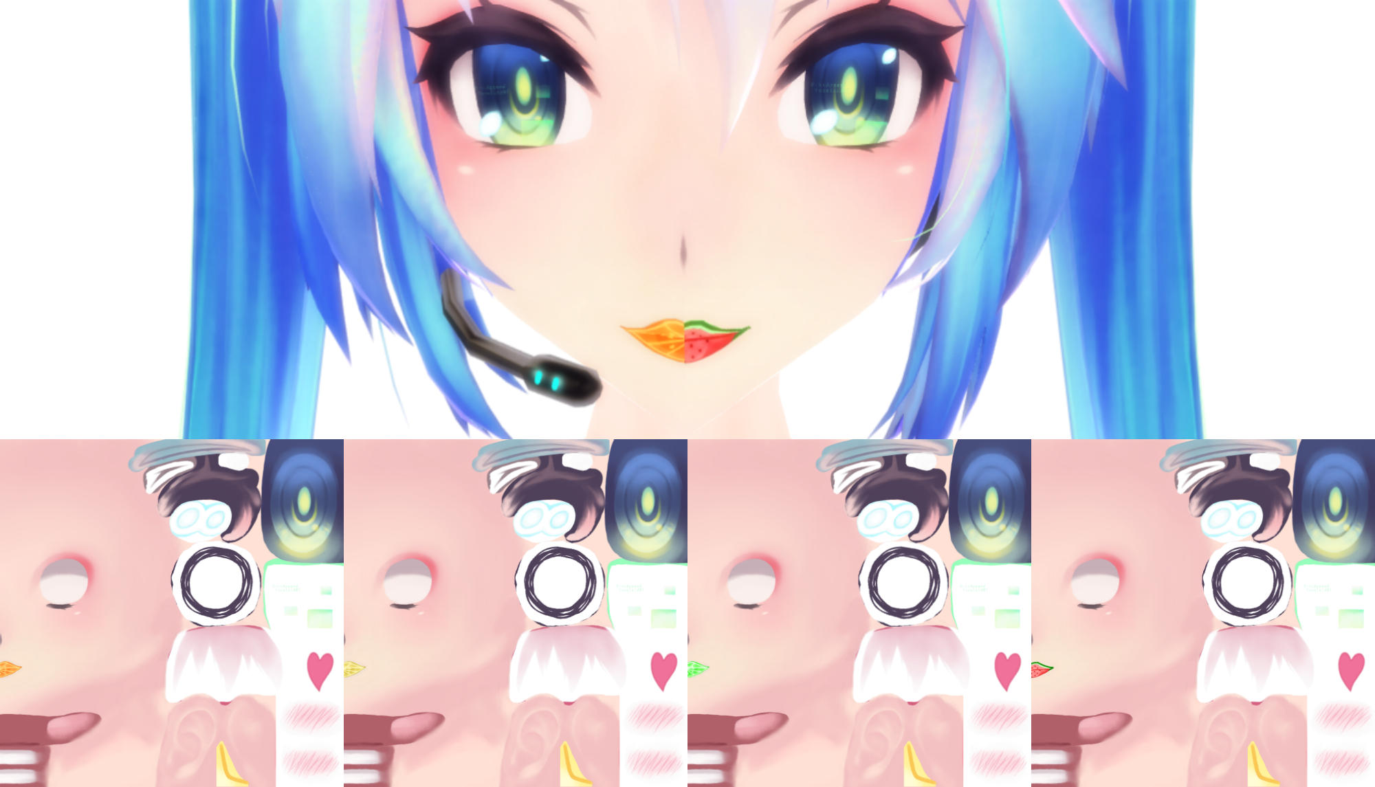 3d mmd lips are movin with the busty touhou girls 3