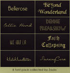 #1 8 font pack collected by Zaula