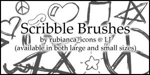 Brushes: Scribble Brushes by rubianca