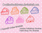 Kawaii Cake Brushes - Set of 7