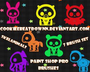Skelanimal Brushes- Set of 7 by CookieeBeatdownn
