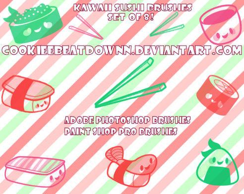 Kawaii Sushi Brushes- Set of 8