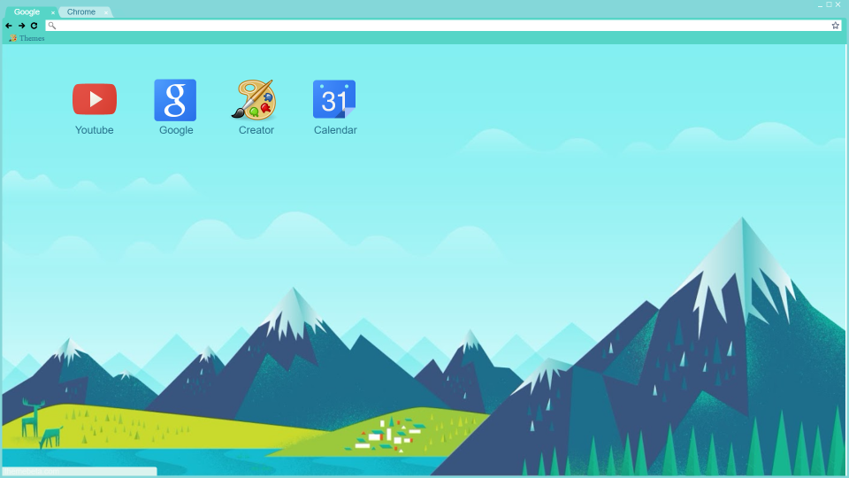 Chrome theme material mountains by Ky4eryaviiPon4o