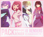 || PACK || 10 Renders Anime: Noragami||
