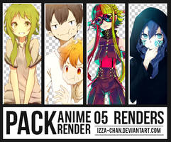 || PACK #011 || 05 Renders Anime || by Izza-chan