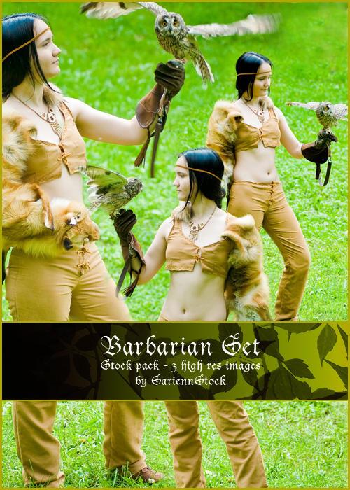 Barbarian Set by SariennStock