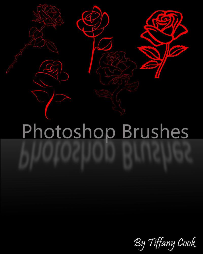 Rose Brush Set by tiffanycook