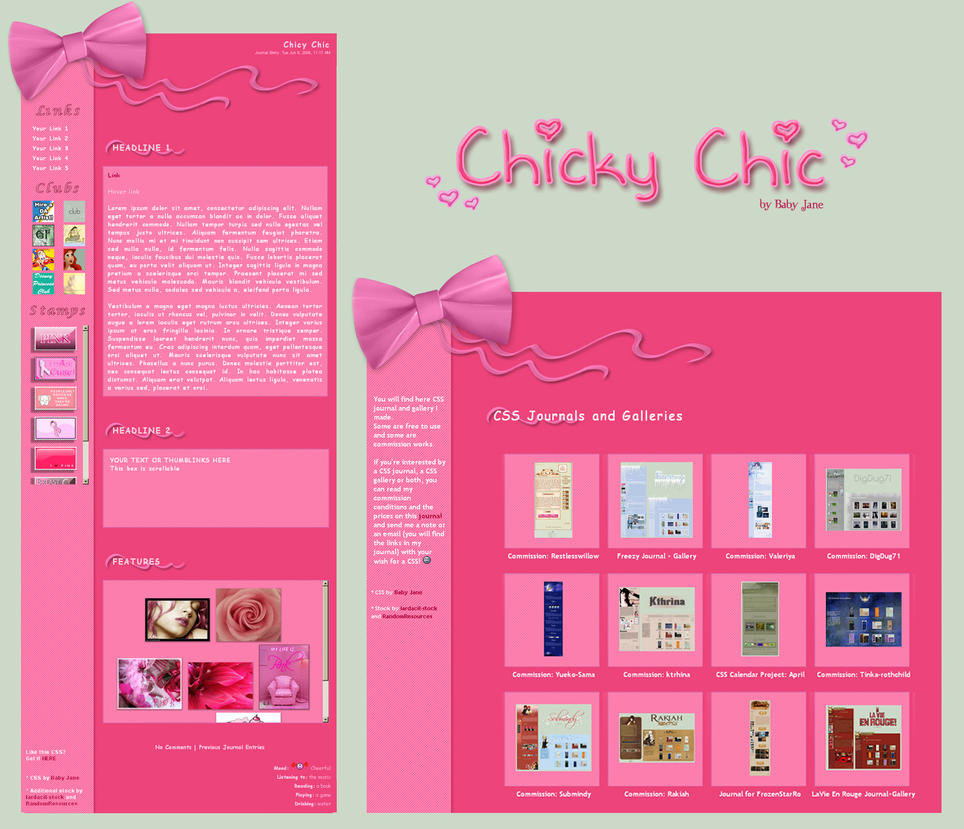 Chicky Chic Journal + Gallery by BaB-Jane