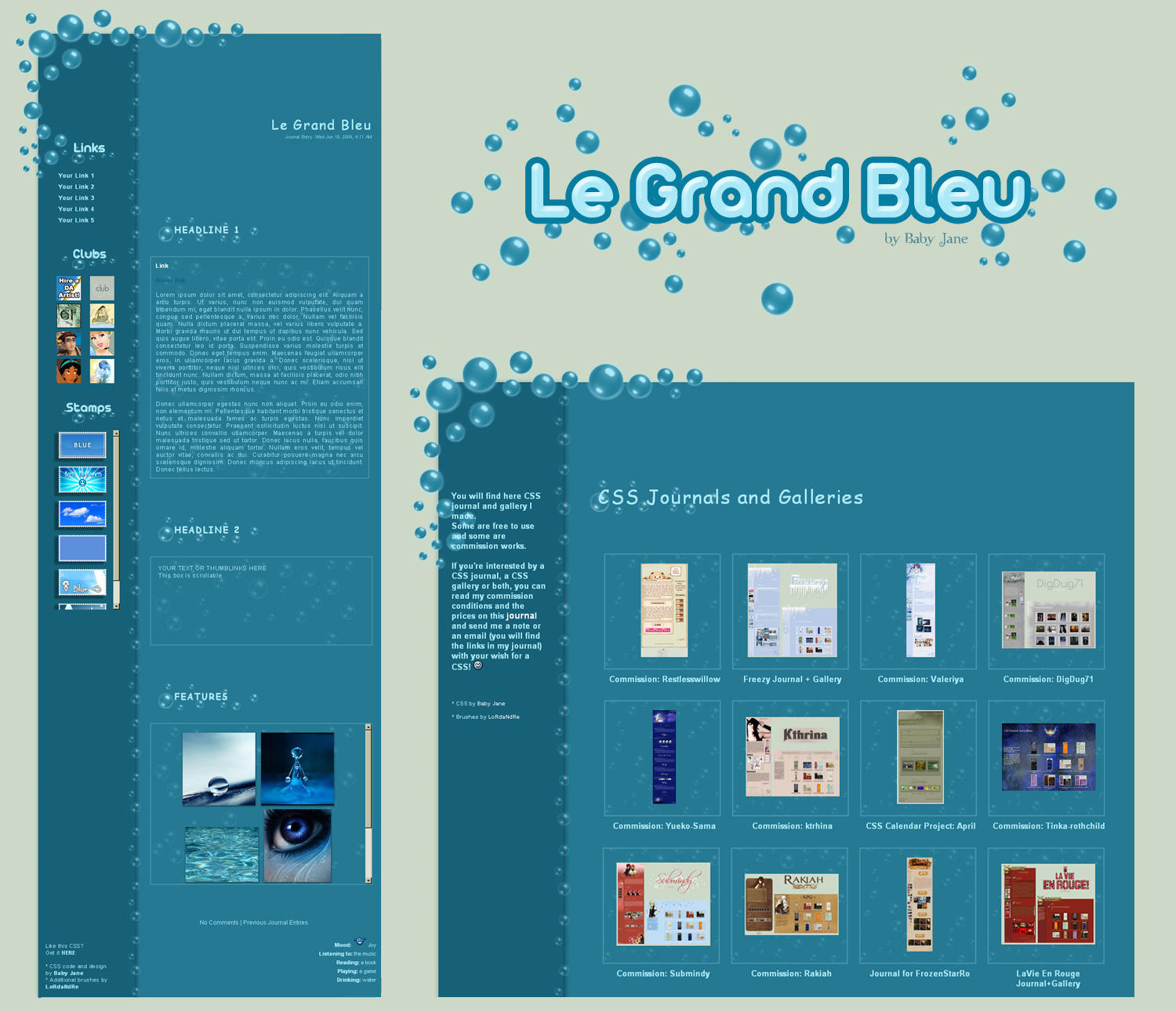 Le Grand Bleu Journal+Gallery by BaB-Jane