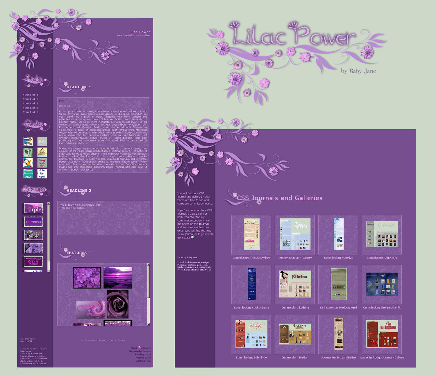 Lilac Power Journal+Gallery by BaB-Jane