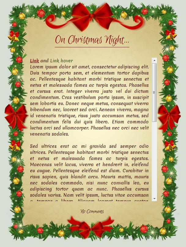 On Christmas Night: CSS Skin