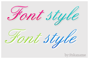 Font style by itskaname