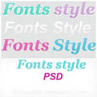 Fonts style PSD by itskaname