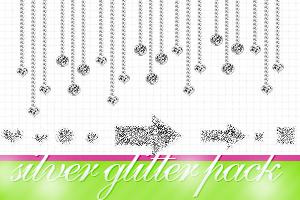 Silver Glitter pack by itskaname