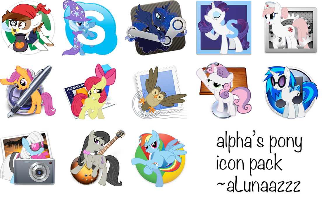 alpha's pony icon pack by aLunaazzz