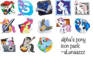 alpha's pony icon pack by aLunaazzz