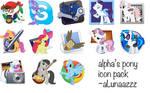 alpha's pony icon pack