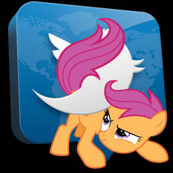 Twitter Scootaloo Icon
