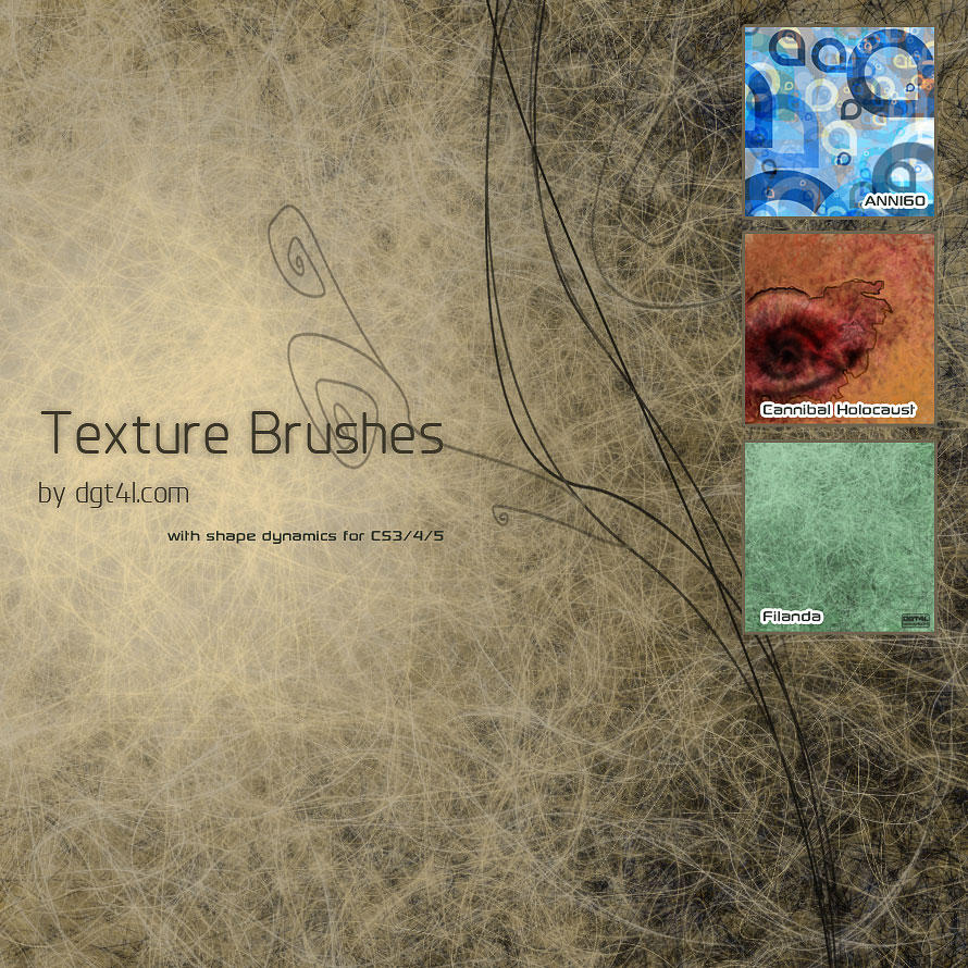 Photoshop Texture Brushes by dgt4l