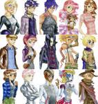 Watercolor characters art