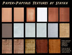 Paper+Papyrus Textures Stock