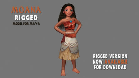 [3D Model] Moana Rigged Version Download