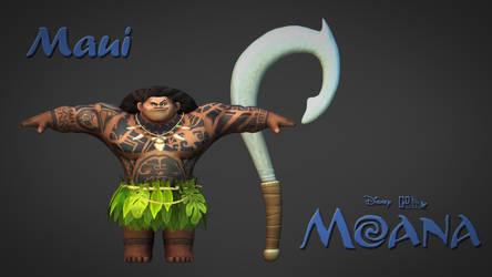 [3D Model] Maui Model From Moana Download