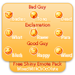 Free Shiny Emotes Pack by MixedMilkChOcOlate