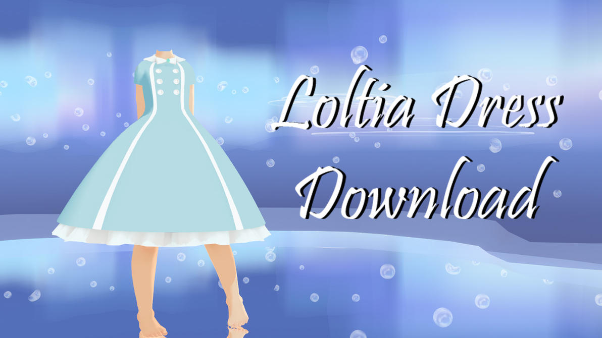 Blue Lolita Dress (Request) by cat-tom-boy